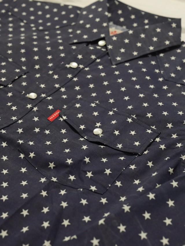 星柄長袖シャツ