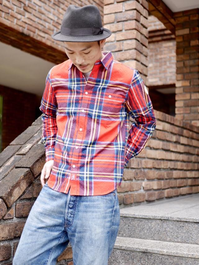オルテガチェックシャツ